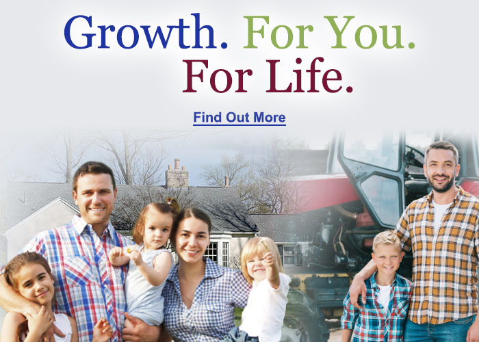 Growth. For You. For Life. Find out more.